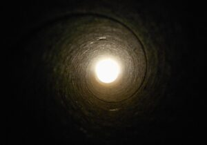 Bright light at the end of a pipe